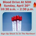 SOH Spring Blood Drive Is April 30th