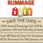 SOH 2018 Rummage Sale – January 26th & January 27th