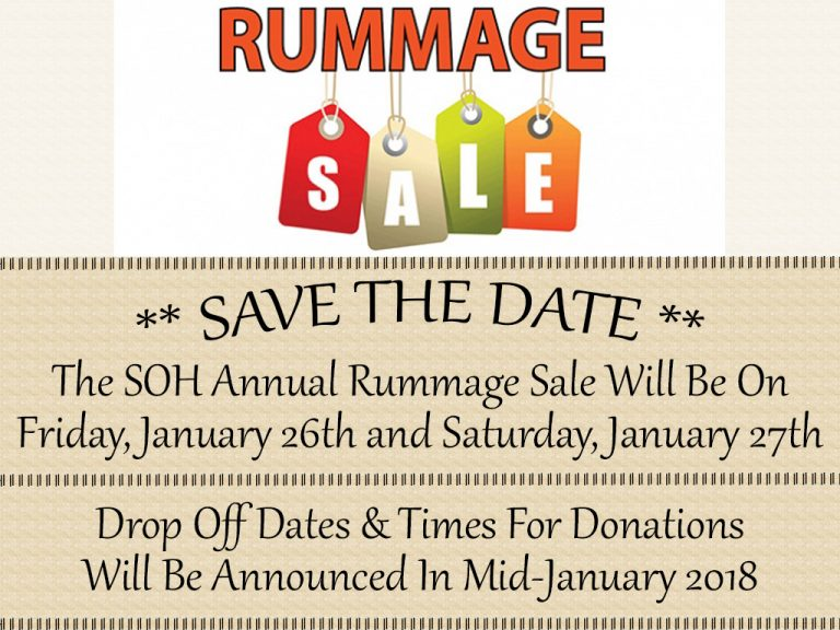 SOH 2018 Rummage Sale – Spirit of Hope Lutheran Church